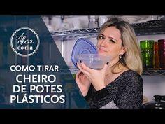 Como acabar com o mau cheiro em potes plásticos
