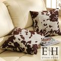 ETHAN HOME Decor Cow Hide Print Pillow (Set of 2) | Overstock.com