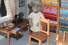 I like the sewing table and chair.