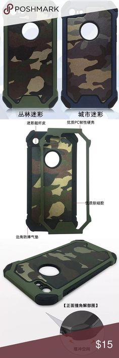 Camouflage pattern iPhone 7 & plus hard phone case 🌈4 different color hard phone case 🌈brand new and high quality 🌈protect your phone from shock and friction, anti-vibration and prevent breaking 🌈precisely cut openings to allow full access to all functions of your iPhone 📱  🌈easy to install and disassemble  🌈match you different style and occasion Accessories Phone Cases
