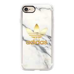 ADIDAS GOLD - WHITE MARBLE - iPhone 7 Case, iPhone 7 Plus Case, iPhone... ($40) ❤ liked on Polyvore featuring accessories, tech accessories, iphone case, white iphone case, iphone cover case, iphone cases, apple iphone case and iphone hard case