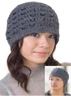 Patrón #1012: Gorro Tejido Unisex a Crochet   CTejidas [Crochet y Dos Agujas]