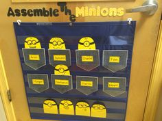 "Minion theme attendance chart: ""Assemble the minions"""