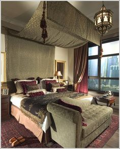 take a look at this #amazing #bedroom done in a #Moroccan #style