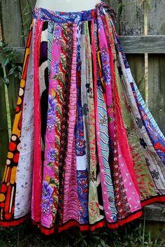 Patchwork Dancer II Fair Trade Skirt
