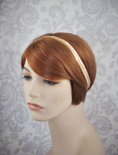 Gold Headband//1920's 1930's style Art Deco by januaryrosebridal, $46.00