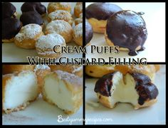 Cream Puffs With Custard Filling