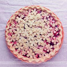 """Million Flowers""Pie Crust Art by Joy Home -I Love Pie Album"