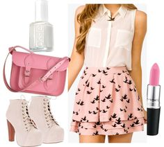 """""""pink"""" by style-of-tess ❤ liked on Polyvore"""