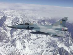 French Armée de l'Air dassault Mirage over the Himalayas, en route to India for Exercise Garunda I. Iai Kfir, Dassault Aviation, Air Space, Military Aircraft, Garuda, Airplane, Aero, Fighter Jets, Boat