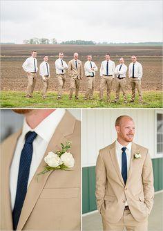 tan and navy blue groomsmen @weddingchicks