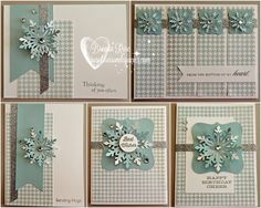 Rose Blossom Legacies: Snowflake Winter Card Kit - order your kit by clicking on the photo!