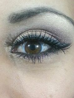 Gold Smokey Eye with Purple Accents.