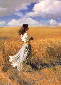 Artist: James V Griffin Romantic Paintings, Paintings I Love, Beautiful Paintings, Woman Painting, Figure Painting, James Griffin, Oeuvre D'art, Figurative Art, Art Pictures