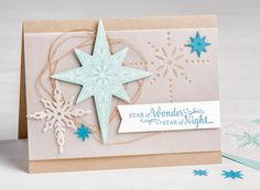 Stampin' Up! Star of Light Christmas Card with Starlight Thinlits from 2016 Stampin' Up! Holiday Catalog #stampinup