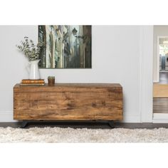 Axis Mid Century Raw Mango Wood Storage Chest by Kosas Home (Axis Storage Chest Brown Entryway Storage, Wood Storage, Storage Chest, Storage Trunk, Storage Ottoman Bench, Bed Bench, Upholstered Bench, Mid Century Style, Brown Wood