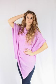Lilac 100% Cashmere Poncho for sale online in South Africa – Pebble&Jack