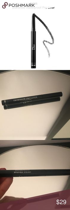'Diorshow' Waterproof Pro Liner 082 Pro Anthracite New! Full size. No box. Color: 082 Pro Anthracite A revolutionary eyeliner that fuses the easy application of a pencil with the glide and intensity of a liquid liner.  This adjustable liner gives you eyeliner looks of a makeup artist in one clean and perfectly-controlled stroke. The retractable tip design hugs the lash line so you can create an instantly buildable, thin to thick line.  WITHOUT: - Parabens - Sulfates  - Phthalates Sephora…