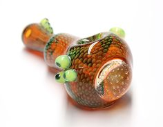 Small Snake Skin Marble Pipe made by Firekist Glass www.KravinGlass.com