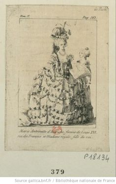 Marie-Antoinette and her daughter, Madame Royale.