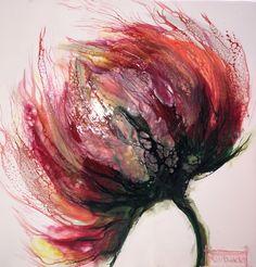 """Serie """"Flora""""by N.Winkel Encaustic-Schellac"""