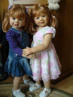 Наш семейный альбом / Monika Levenig и Monika Peter-Leicht. 2 Моники - Левениг и Питер-Ляйхт, из винила / Бэйбики. Куклы фото. Одежда для кукол