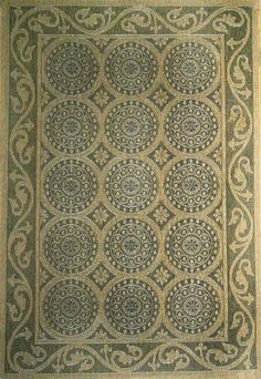 Indoor-Outdodor rugs from Liora Manne: Tropez Circles Green. Order from Rich's for the Home. Indoor Outdoor Rugs, Throw Rugs, Patio, Circles, Warm, Green, Home Decor, Decoration Home, Area Rugs