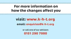 To find out more about how the benefit changes may affect you, contact us via these methods.