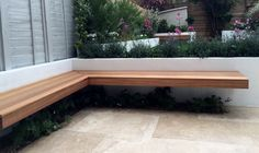Floating timber bench