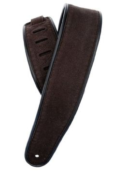 Planet Waves Deluxe Reversible Super Suede Guitar Strap with Black/Brown Piping - http://www.rekomande.com/planet-waves-deluxe-reversible-super-suede-guitar-strap-with-blackbrown-piping/