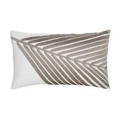 White pillow, taupe metallic fabric paint....done.  I pinned this Delano Pillow from the Blissliving Home event at Joss and Main!