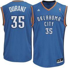 Youth Oklahoma City Thunder Kevin Durant adidas Light Blue Replica Road Jersey