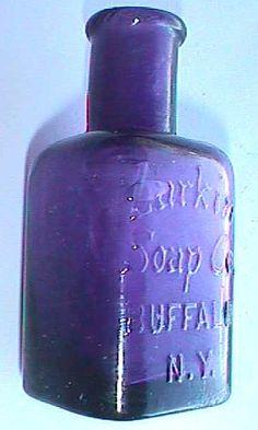 Exquisite Little Antique Purple Larkin Soap Co Perfume Bottle Bottles And Jars, Glass Bottles, Perfume Bottles, Purple Rain, Deep Purple, Lilac, Lavender, White Things, Bottle Box