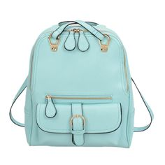 Multifunctional Handbag New College Style Leisure Shoulder Bag (lake blue). Adjustable Shoulder Strap Included. Medium to Large Size Handbag26 (L) x 10 (W) x 33 (H) CM. New Color Selectionv. Due to monitor variations colors may appear slightly different.