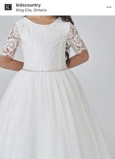 King City, Lace Dress, White Dress, Hit The Floors, Communion Dresses, Country, Kids, Collection, Instagram