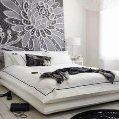 Lace in home decor.
