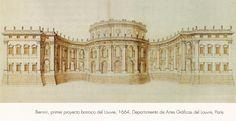 Bernini, Fachada Este del Louvre primer proyecto - Buscar con Google