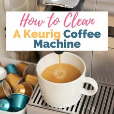 Clean your Keurig Coffee maker every 3 to 6 months with these simple cleaning tips! Diy Cleaning Products, Cleaning Solutions, Cleaning Hacks, Cleaning Checklist, Cleaning Recipes, Coffee Machine, Coffee Maker, Coffee Coffee, Water Stain On Wood
