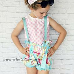 By Gum! By Golly! Top - Size 5 to 7-8 #handmadeclothing #girlsclothing #fashion #style #australian #kids #toddlers #babies #girls #wardrobe #vintage #retro