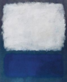 Mark Rothko: Blue Grey Painting: 1962 one of my favorite artist!