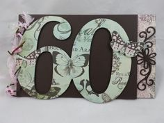 60th Birthday Guest Book handcrafted by Incy Wincy Designs