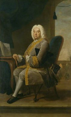George Frideric Handel by Thomas Hudson oil on canvas, 1756 94 in. x 57 1/2 in. (2388 mm x 1461 mm)