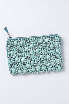 Jewel In The Rough Pouch - Anthropologie.com #embellished #turquoise #clutch #bags