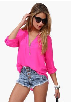 New Women Casual Long Sleeve Loose Chiffon Shirt - Lalalilo.com Shopping - The Best Deals on Blouses
