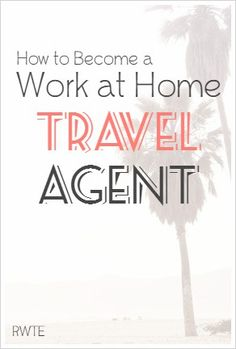 Did you know lots of travel agents work from home? This is an industry that you can break into that can also be very lucrative. This post gives tips and resources for getting started. Make Money Money Making Ideas Work From Home Moms, Make Money From Home, Stay At Home, Way To Make Money, Home Based Business, Business Travel, Business Tips, Online Business, Work Travel
