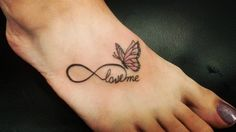 There are an infinite infinity tattoo ideas available. These tattoos are very simple and you don't have to bear much pain. The infinity tattoos are very unique Infinity Butterfly Tattoo, Infinity Tattoo With Feather, Butterfly Tattoos Images, Butterfly Wrist Tattoo, Butterfly Tattoo Meaning, Infinity Tattoo Designs, Infinity Tattoos, Butterfly Tattoo Designs, Infinity Symbol