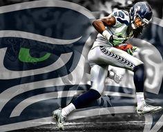 Seattle Seahawks Art - Richard Sherman
