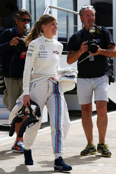 Susie Wolff, Williams Development Driver ahead of the #F1 2014 Grand Prix @ Silverstone this weekend.