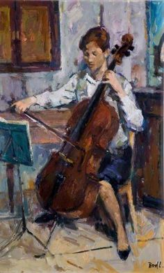 Cello Player  Laszlo Bod (b.1920)  University of Birmingham - Pinterest