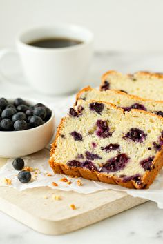 lemon blueberry bread recipe |This is the bread you want right beside your mug of coffee in the morning. And